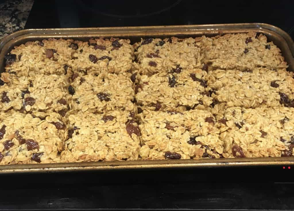 Mincemeat flapjacks just out of the oven