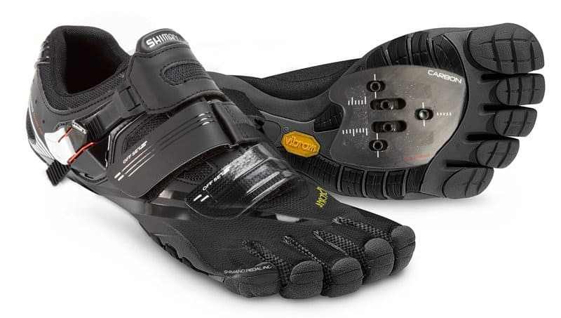Vibram PentiCleat barefoot cycling shoes